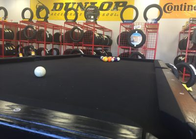 8 Ball Motorcycle Tires custom black pool table